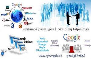 Skelbimų talpinimas, reklama internete