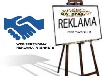 Skelbimų talpinimas, reklama internete. Visos reklamos paslaugos