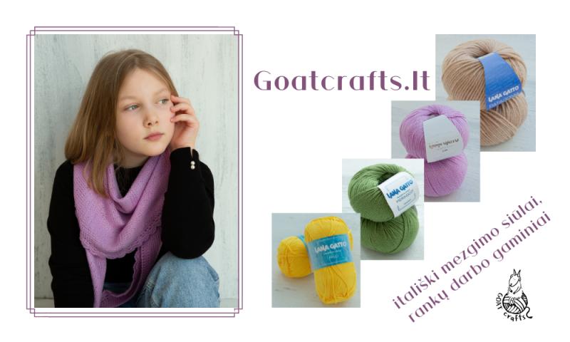 Goatcrafts – aukščiausios kokybės itališki Lana Gatto mezgimo siūlai, rankų darbo gaminiai